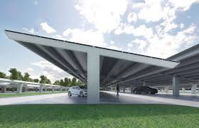 Solar Canopy by Long Span Commercial Solar Parking Find Your Carport With Bluetop