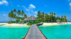high def desktop backgrounds sea paradise palms island tropical beach hd desktop wallpaper
