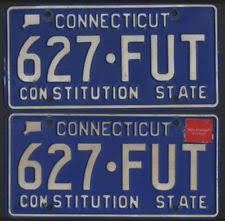 Ct Vanity License Plate Lookup Collectible Connecticut License Plates Ebay