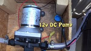 Caravan Outdoor Shower - wiring a 12v dc water pump to a switch for my off grid outdoor