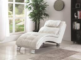 Tufted Leather Chaise White Leather Chaise Rich In Style Marku Home Design