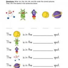 ordinal numbers worksheet 3