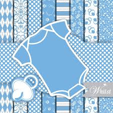 baby shower frames baby digital paper frame one baby shower clip blue photo