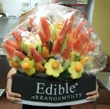 edible attangements early morning at edible arrangements preparing fruit and