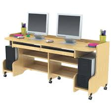Computer Desk Work Station Doubleer Desk Workstation Ergonomic Dual Desks Phenomenal 32