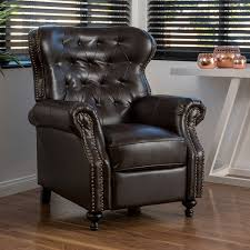 Best Recliner Chair In The World Amazon Com Waldo Brown Leather Recliner Club Chair Kitchen U0026 Dining