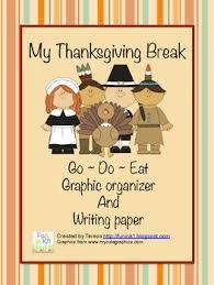my thanksgiving my thanksgiving writing graphic organizer tpt