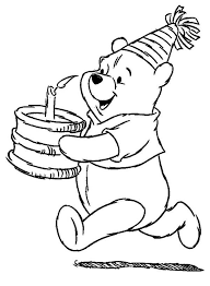 winnie pooh coloring pages birthday coloring pages ideas