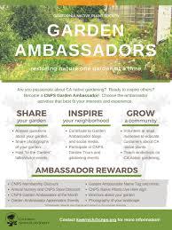 native plant nursery san diego new cnps garden ambassador program u2014 cnps san diego