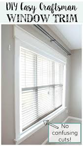Modern Window Casing by Remodelaholic Diy Easy Craftsman Window Trim