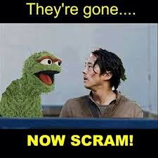 Oscar The Grouch Meme - 18 memes showing how glenn would survive the dumpster incident