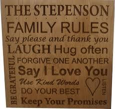 laser engraved family wood plaque cin s crafts