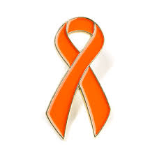 diabetes ribbon orange ribbon lapel pin orange lapel pin orange leukemia cancer