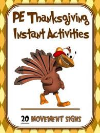thanksgiving pe activities pe activities thanksgiving and
