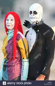 surfers as sally skellington from nightmare before