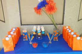 blue and orange decor blue orange birthday party around my family table