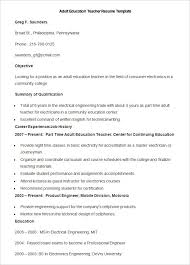 Examples Of Teacher Resume by Resume Examples With Continuing Education