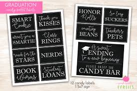 Candy Labels For Candy Buffet by Graduation Candy Labels Printable Graduation Party Candy
