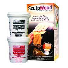 Epoxy Products System Three Sculpwood 1 Qt Two Part Epoxy Putty Kit With 16 Oz