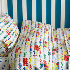 Cot Duvet Covers Car And Buses Toddler Cot Bed Duvet Set By Lulu And Nat