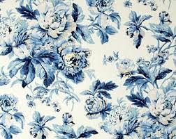 Blue Floral Curtains Blue Floral Curtains Etsy