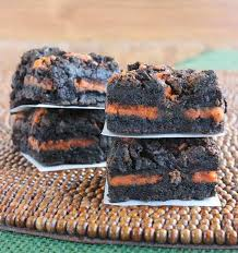 autumn oreo brownies recipe vegan in the freezer