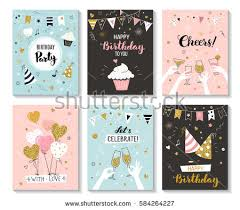 many stock birthday party invitation card vector creation happy birthday greeting card party invitation stock vector