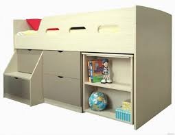 Under Desk Storage Drawers by White Gray Colors Bunk Bed Around Sliding Built In Desk Underneath