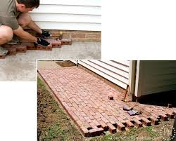 laying a paver patio how to build a brick patio the scrap shoppe