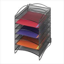 safco onyx mesh desk organizer safco onyx mesh literature desktop organizer 9431bl