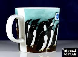 arabia penguin mug satl designer heljä liukko sundström only