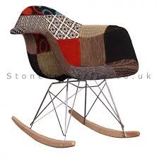 89 charles ray eames style fabric rar rocking chair patchwork