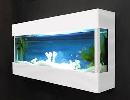 designer aquarium designer wall mounted aquarium glass fish tank fj2white ebay