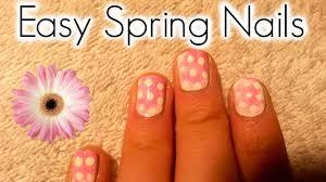 cute u0026 easy spring nail design kwezislife youtube