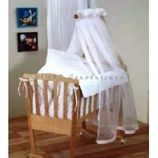 ninna nanna rocking cradle complete with quilted wooden veil of