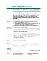 Resume Of A Registered Nurse Creative Ideas Resume Template For Nursing Lofty Design Best