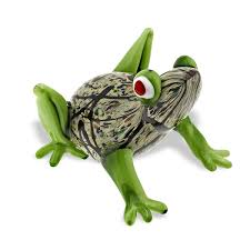 handmade glass murano style art glass frog l6 u201d x h4 5 u0027