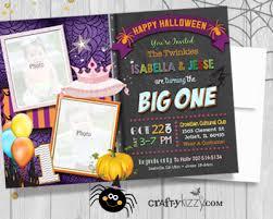 twins halloween party invitations twins boy first birthday