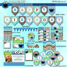 cookie monster table decorations cookie monster party printable collection blue mons on cookie