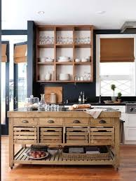 kitchen open cabinets rustic industrial style island in contemporary kitchen