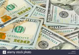 design of us currency one hundred dollar bills stock photo