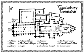 canterbury cathedral floor plan plan of canterbury cathedral