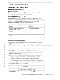16 2 worksheet thermal conduction convection
