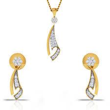 gold set delicate details diamond gold pendant set charu jewels