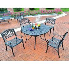 Black Cast Aluminum Patio Furniture Crosley Sedona 42 In Cast Aluminum Outdoor Dining Set With High