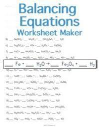 answer key for the balance chemical equations worksheet eigram