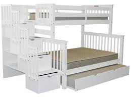 Full Bunk Bed Mattress  Furniture Favourites - White bunk beds twin over full with stairs
