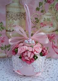 34 best a shabby chic christmas ornaments images on pinterest