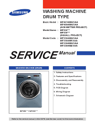 samsung washer wf331 service manual electrical connector
