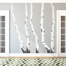 birch tree decor trees printed wall decal